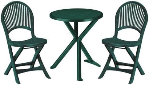 SAT Table et 2 chaises pour jardin/terrasse/balcon en ...