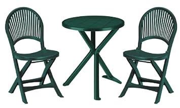 Gbshop sat tavolino e sedie per giardino terrazzo balcone in