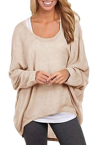 Tops Blouse Kaki Shirt Longues Casual Femme Vrac en Irrguliers Tee T Shirts Shirts Manches Chemiser qqw8ST