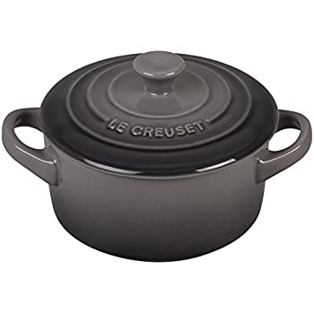 Le Creuset Stoneware Petite Round Casserole, 8-Ounce, Oyster