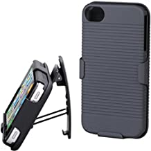 Black Shell Combo Case Protector Cover Holster with Belt Clip Kickstand for Verizon iPhone 5 - Verizon iPhone 5S