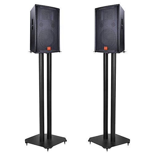 - HomGarden Pair of Premium Floor Speaker Stands, Set of 2 Metal Universal Speaker Stands for Surround Sound & Book Shelf Speakers