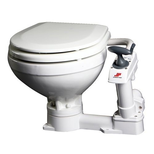 Johnson Pumps 80-47229-01 AquaT Compact Manual Marine Toilet