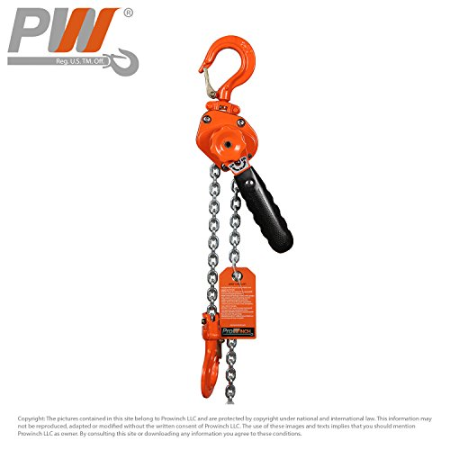 Mini Light Lever Chain Hoist 1/2 Ton G100 Chain Come Along 1100 lb 9.6