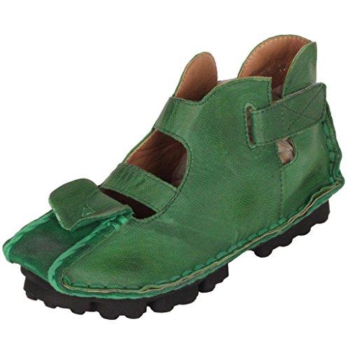 MatchLife Femme Vintage Cuir Chaussures Chaussures Plates Cuir Sandales B01MG9JMCA Style3-vert 4425ab2 - robotanarchy.space
