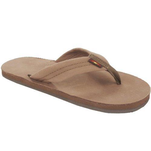Rainbow Girls Sandals (Rainbow Sandals Kid's Premier Leather Dark Brown Size 3|4)