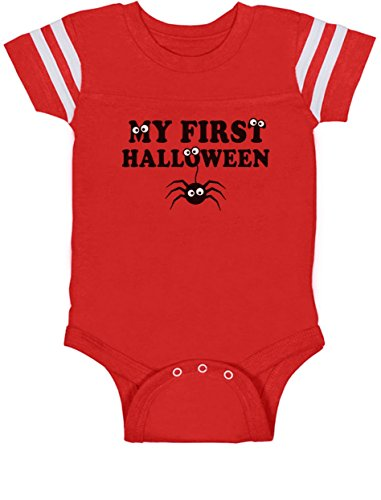 My Bodysuit Spider Jersey Baby First Red Girl Cute Bodysuit Baby Halloween Boy rZHwq4r1