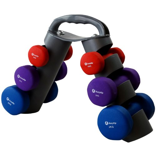 BODY SCULPTURE SMART DUMBELLS 2 x 3KG Fitness Exercise Gym weight body workout