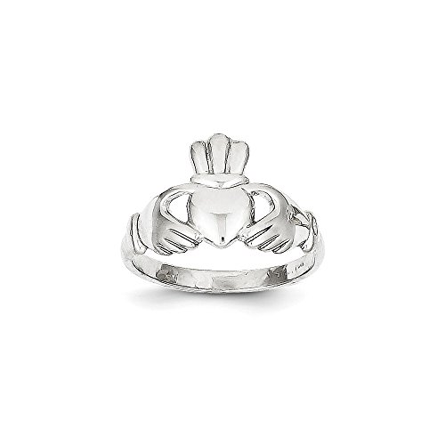 ICE CARATS 10k White Gold Irish Claddagh Celtic Knot Band Ring Size 7.00 Fine Jewelry Gift Set For Women Heart by ICE CARATS (Image #4)