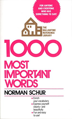 1000 most important words - 1