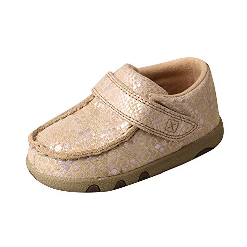 Twisted X Boys and Girls Infant Driving Moc Shoes, Snake Print, Size 4