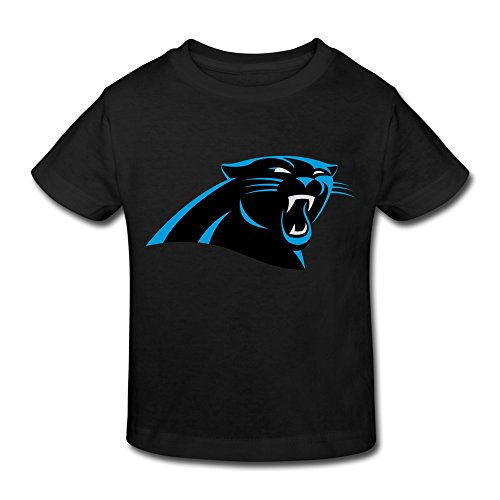 RenHe Toddler Cool Carolina Panthers Logo T-shirts Size 3 Toddler Black