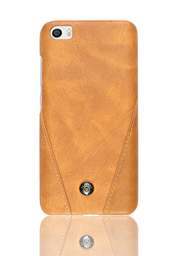 Parallel Universe Luxury Stitched Champion PU Leather Back cover for Xiaomi Mi5 – Brown