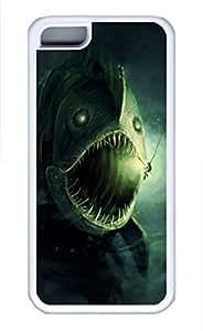 iPhone 5c case, Cute Fish Monster iPhone 5c Cover, iPhone 5c Cases, Soft Whtie iPhone 5c Covers by mcsharks