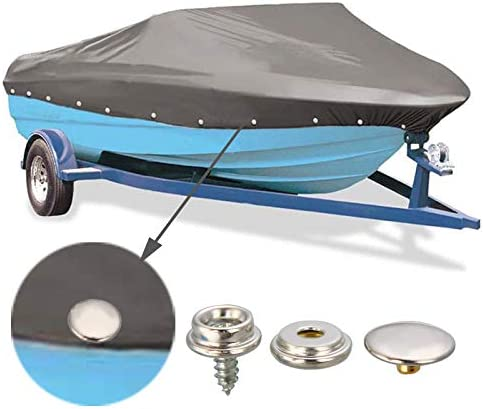 Snaps Kit for Boat Cover,3//8 Stainless Steel Screws Snaps Buttons Marine Grade Sewing Fastener Tool for Canvas,Black