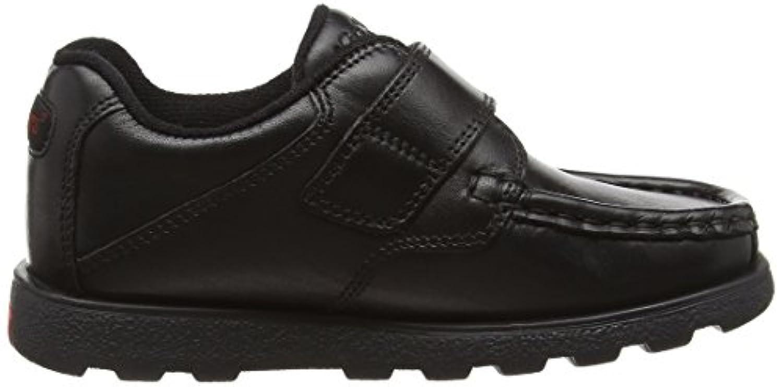 Kickers Boys' Fragma Strap Loafers, Black (Black), 4 UK 37 EU