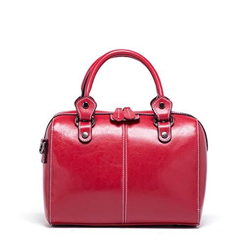 Femme Bandoulière Pour La Main Sac Mode Red De Red Yumuymey color Messenger Banlieue Cuir En Wine À 10vqUPwxz
