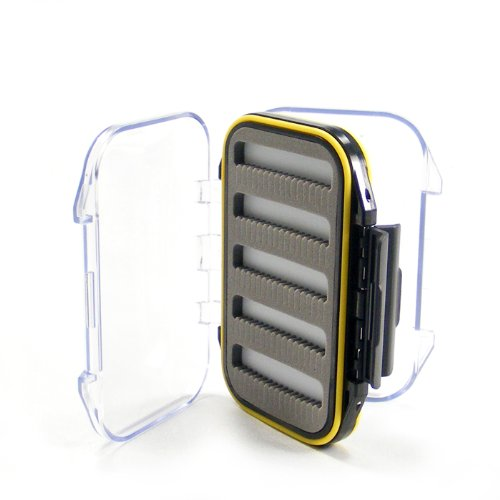 Double-Sided Fly Box Small Shirt Pocket Micro-Slit Foam Waterproof Clear Lids 3