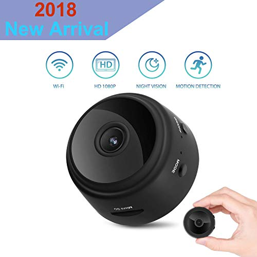 Mini Hidden Spy Camera Wireless Indoor Security Nanny Cam Baby Monitors with Motion Detection Night Vision for Office Home Car (Mini Camera) ()