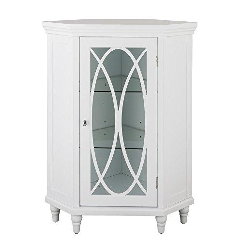 Elegant Home Fashions TYG-62392 Lombard Corner Floor Cabinet