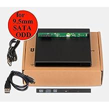 Deyoung External USB 2.0 Case Enclosure for Laptop 9.5mm SATA Tray-load Optical ODD DVD Drive