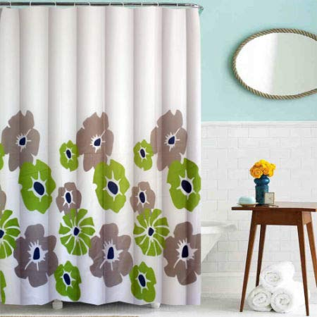 Cycle Printing Shower Curtain Polyester Green Flower 10 Pieces//Bag Baiyun 5 Bags