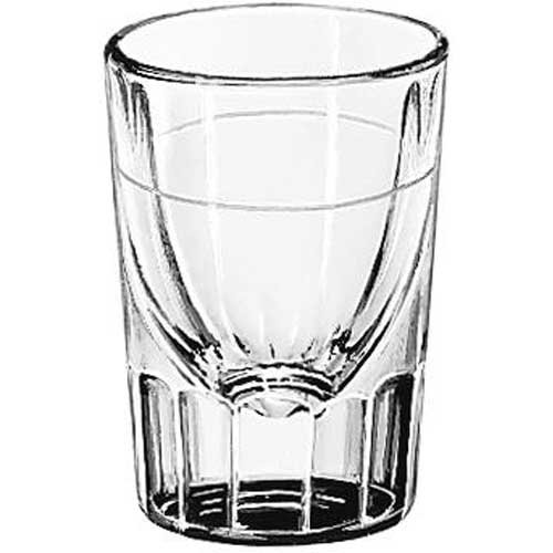 Libbey Lined Fluted 1.25 oz Whiskey Glass by Libbey