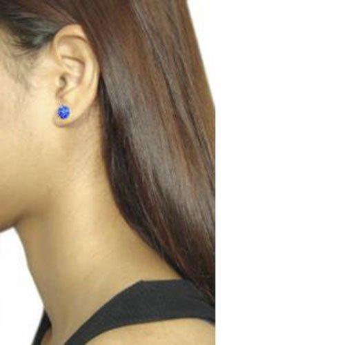 Boutique Perno Brillantini Inspirations 8 Orecchini Blu In Semi A Mm Designer sfera Disponibili Sterling ® 27 Colori Con Argento Zaffiro 45qxXwdz