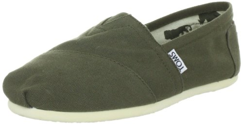 Women's Canvas Slip-On Olive W7