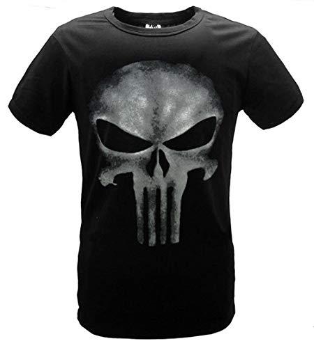 Younicos 처벌 Punisher Frank Castle T 셔츠 블랙 남성용 / younicos Punisher Frank Castle T-shirt Black Men