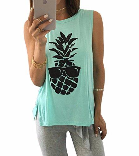 Emma - Camiseta sin mangas - para mujer Light Green 2
