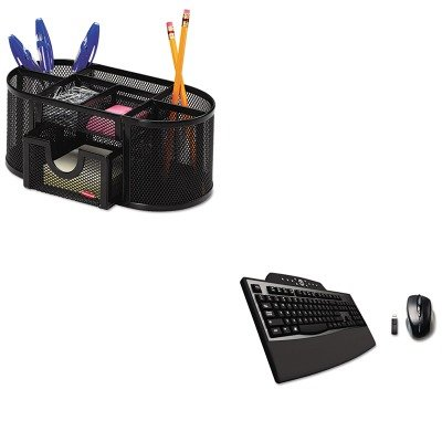 KITKMW72403ROL1746466 - Value Kit - Kensington Pro Fit Comfort Desktop Set (KMW72403) and Rolodex Mesh Pencil Cup Organizer (ROL1746466) by Kensington (Image #1)