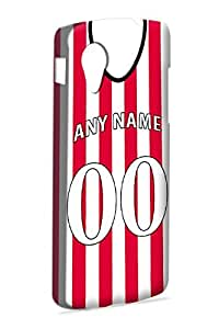 Case Fun Case Fun Personalised Sunderland Football Shirt, Any Name, Any Number Snap-on Hard Back Case Cover for Google Nexus 5