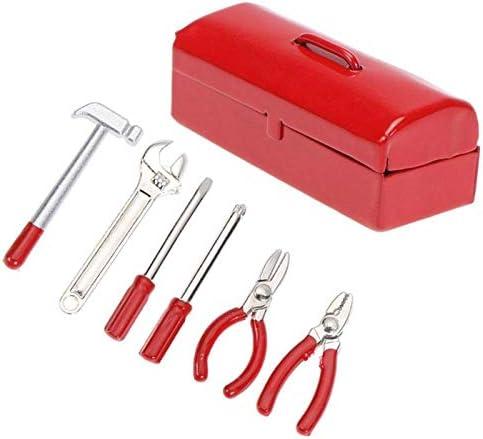 Meiyiu 6 Unids/Set Mini Caja de Herramientas de Reparación de Llave de Martillo para 1:10 Simulación RC Crawler Car D90 SCX10 90046 Rojo: Amazon.es: Hogar