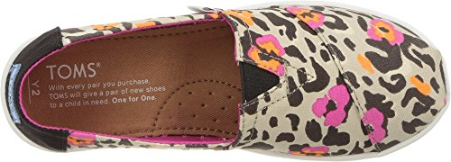 TOMS Youth Alpargata Canvas Printed Espadrille, Size: 13.5 M US Little Kid, Color Fuchsia Floral Leopard - Image 1
