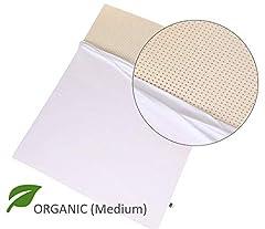 Nestled Organic 100% Natural Latex Mattress Topper with Organic Cover. GOLS & GOTS Certified. Medium Firmness.