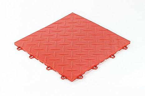 Mq piastrelle pavimento rosso officina sogi confezione da pz