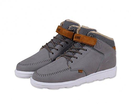 Djinns - Zapatillas de Piel para hombre gris