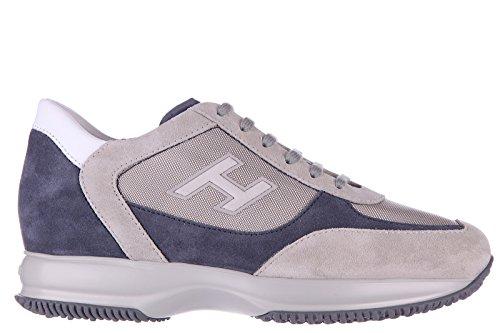 Scarpe Da Uomo Da Uomo Hogan Scarpe Sneakers In Pelle Scamosciata Beige Gregge H Interattivo