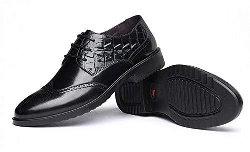 Chaussures Chaussures et XLF 41 Adefg UE Hommes Cuir en Dentelle d'affaires Printemps Chaussures Tête Rondes en Automne Modèles Cuir qvTa4q