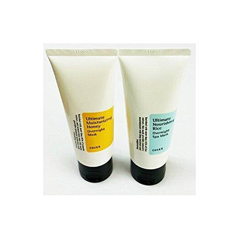 [COSRX] Ultimate Nourishing Rice Overnight Spa Mask 60g + Ultimate Moisturizing Honey Overnight Mask 60g / NEW 2017