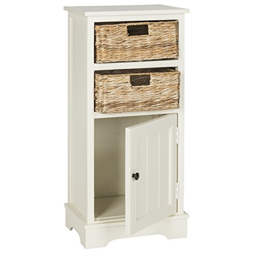 Safavieh American Homes Collection Connery Distressed White Cabinet - Distressed White Cabinet