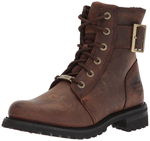 Harley-Davidson Women's SYLEWOOD Motorcycle Boot, Brown, 9 Medium US - Ladies Harley Davidson