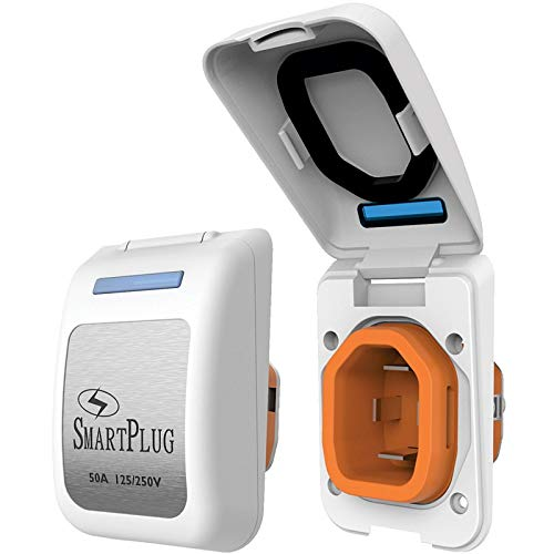 Smartplug 50 Amp Non Metallic White Inlet - Boat & Rv Side by ''Smartplug''