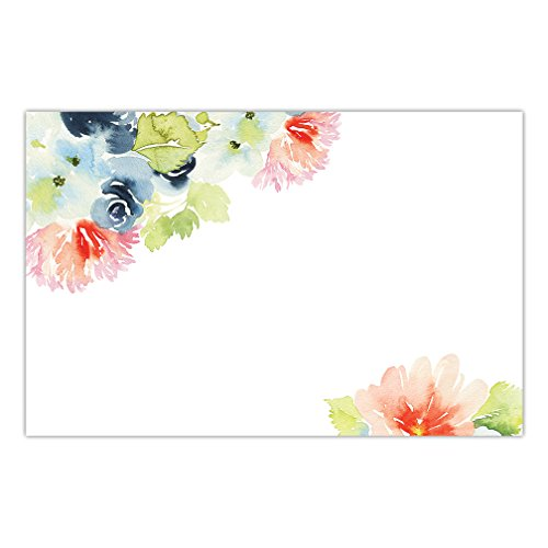 DB Party Studio Paper Placemats Pack of 25 Watercolor Flowers Design Disposable Place Mats Bridal Shower Birthday Retirement Easy Cleanup Decor Kitchen Dining Brunch Dinner 17