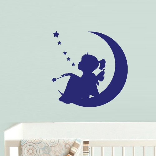 Wall Vinyl Decal Sticker Bedroom Crescent Dream Half Moon Girl Magic z690