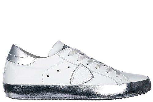 Philippe Model Dames Schoenen Sneakers Damesschoenen Van Leer Sneakers Paris Wit