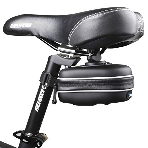 Saddle Pack Hard Case - Roswheel 13875 Hard Shell Waterproof Bike Saddle Bag Bicycle Under Seat Pack Cycling Accessories Pouch, Black