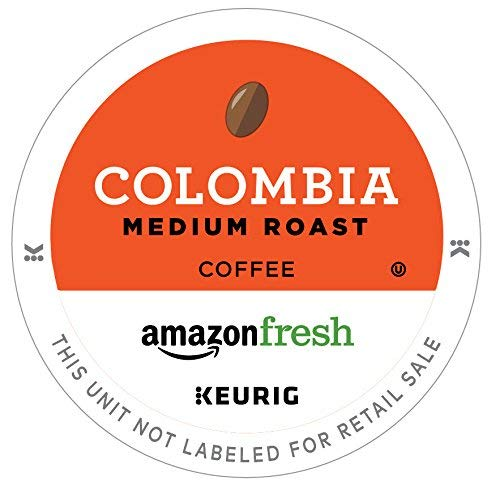 AmazonFresh 12 Ct. K-Cups, Colombia Medium Roast, Keurig K-Cup Brewer Compatible