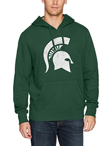 - NCAA Michigan State Spartans Men's Ots Fleece Hoodie Distressed, Small, Dark Green